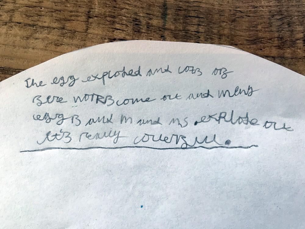 Exploding egg - how it works - Isaac Thomas (age 7)