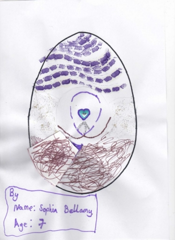 Sophia Bellamy's egg (age 7)