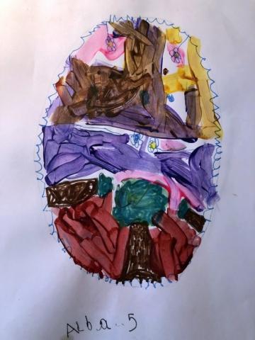 Alba from Tavistock's egg (age 5)