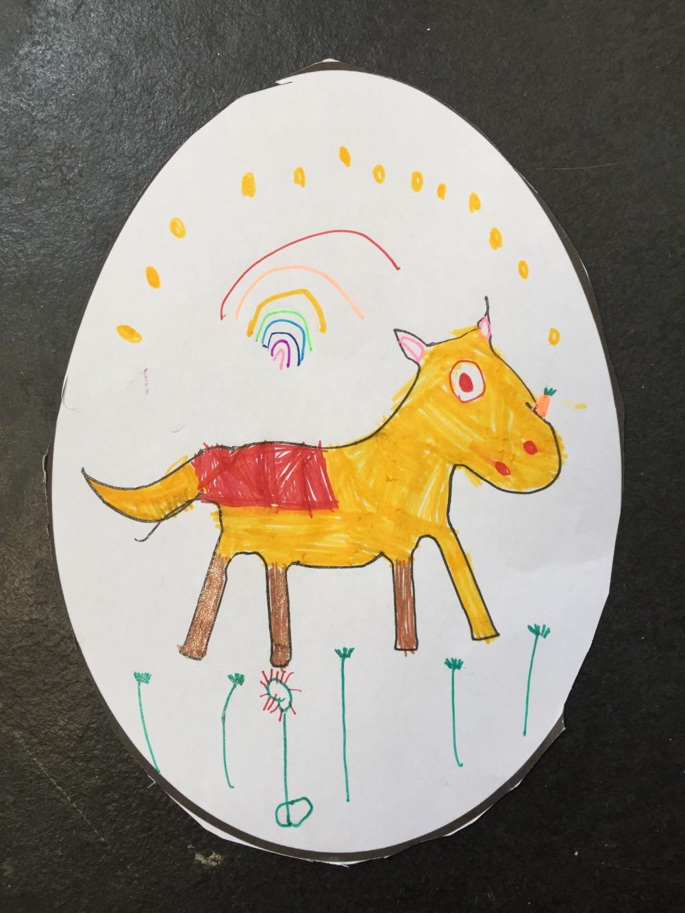 Violet's second egg - WINNER Under 5's