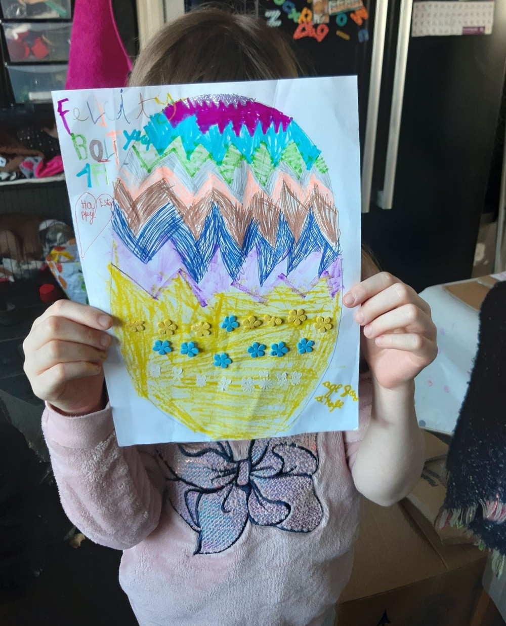 Felicity Bolt's egg (age 8)