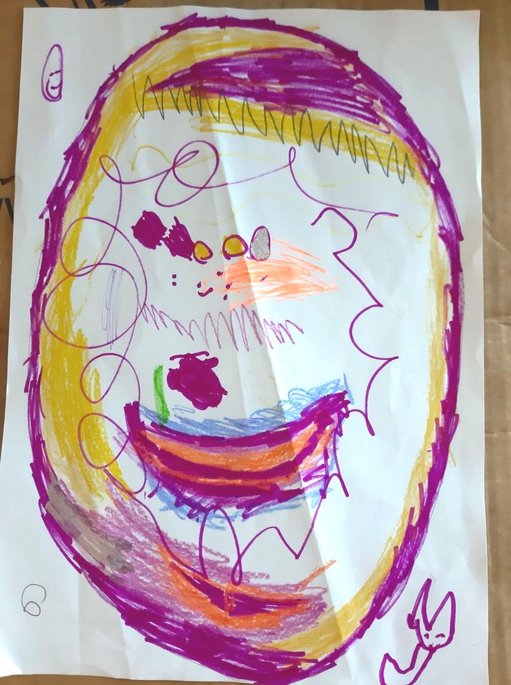 Harvey Bolt's egg (age 6)