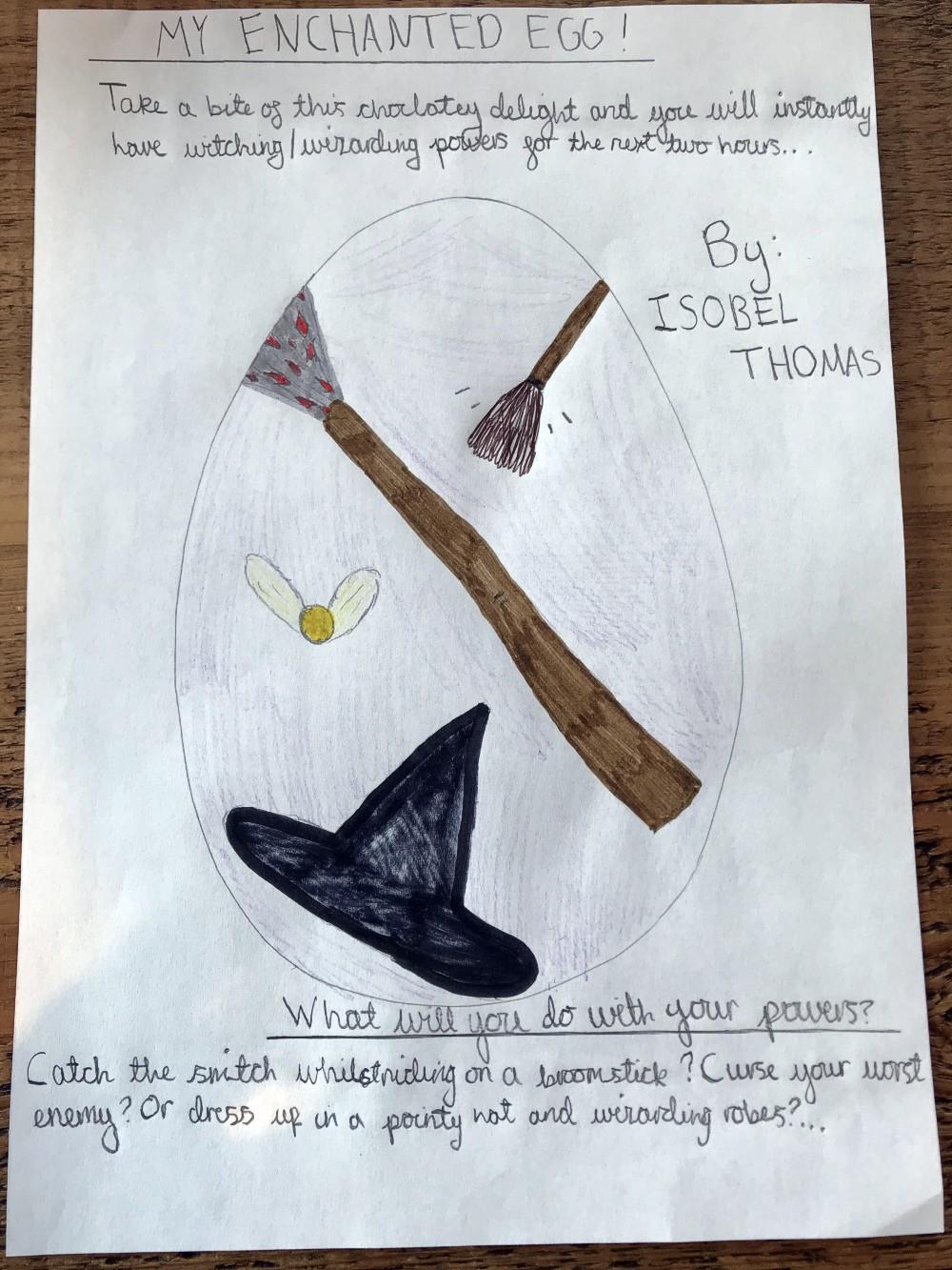 Wizarding egg - Isobel Thomas (age 10)
