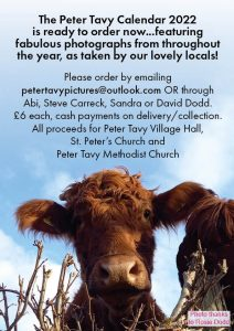 Peter Tavy 2022 Calendar AVAILABLE NOW - Click picture for details