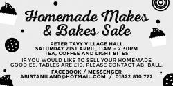 Homemade Makes and Bakes Sale
