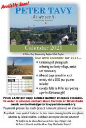 Peter Tavy 2021 Calendar available NOW!!